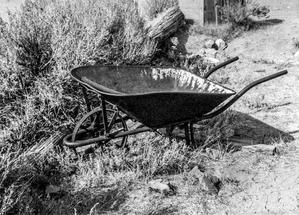Photograph - Rusting Wheelbarrow, Bodie Ghost Town by Gene Parks