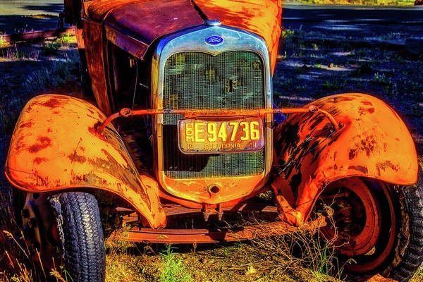 Wall Art - Photograph - Rusting Yellow Ford by Garry Gay
