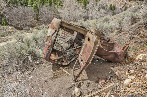 Photograph - Rusty Abandoned Vehicle by Sue Smith