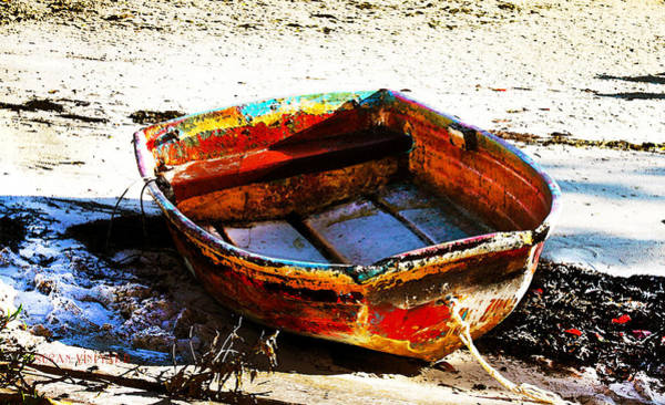 Photograph - Rusty Boat On The Beach by Susan Vineyard