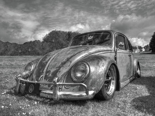 Volkswagen Kafer Photograph - Rusty Bug - Vw Beetle In Black And White by Gill Billington