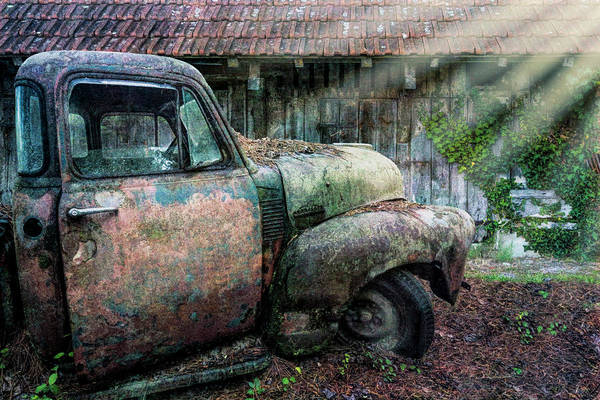 Wall Art - Photograph - Rusty Chevy Pickup Truck In The Sun by Debra and Dave Vanderlaan