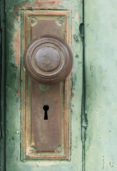 Wall Art - Photograph - Rusty Doorknob by Steve Gadomski