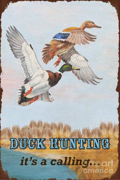 Marsh Bird Painting - Rusty Duck Calling-jp2819 by Jean Plout