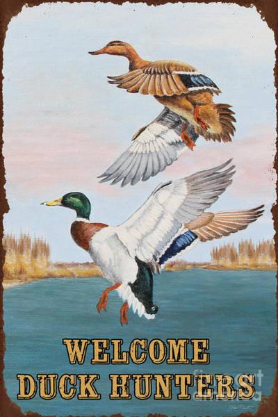 Marsh Bird Painting - Rusty Duck Hunters-jp2817 by Jean Plout