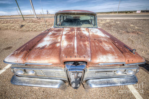 Edsel Photograph - Rusty Edsel Along Route 66 In Santa Rosa by Twenty Two North Photography