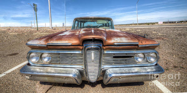 Edsel Photograph - Rusty Edsel On Route 66 by Twenty Two North Photography