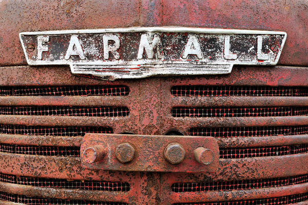Wall Art - Photograph - Rusty Farmall by Luke Moore