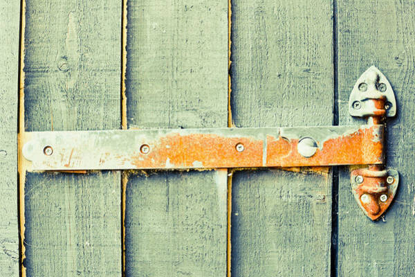Brown Wall Art - Photograph - Rusty Hinge by Tom Gowanlock
