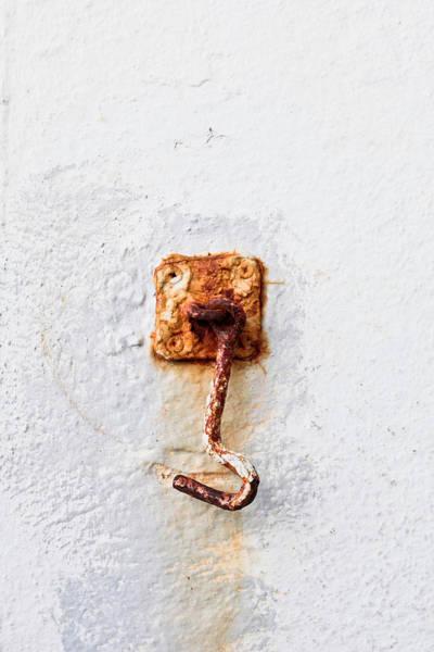 Old Wall Art - Photograph - Rusty Hook by Tom Gowanlock