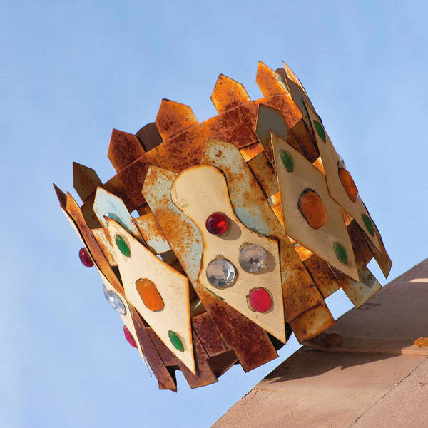 Solvang Photograph - Rusty Jeweled Crown by Art Block Collections