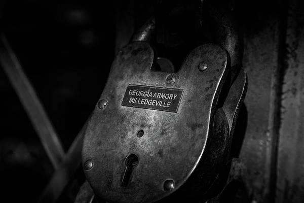 Photograph - Rusty Lock In Bw by Doug Camara