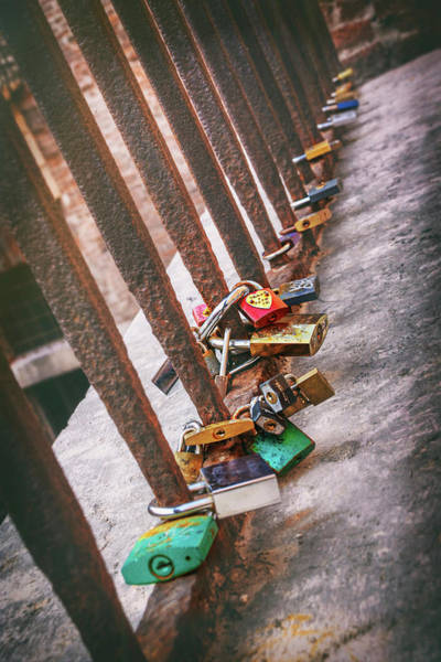 Lock Gates Photograph - Rusty Love In Verona by Carol Japp