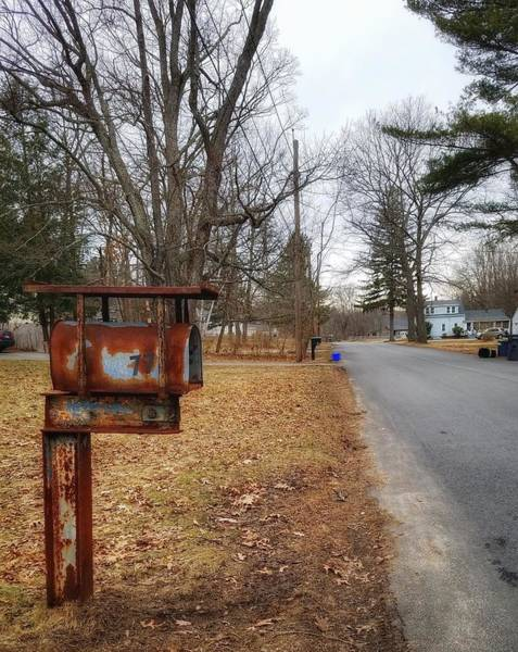 Photograph - Rusty Mailbox On A Country Road by Mary Capriole