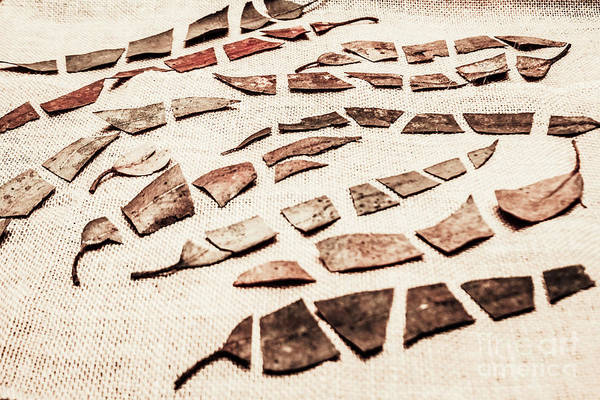 Repair Photograph - Rusty Metal Leaves Cut With Scissors by Jorgo Photography - Wall Art Gallery