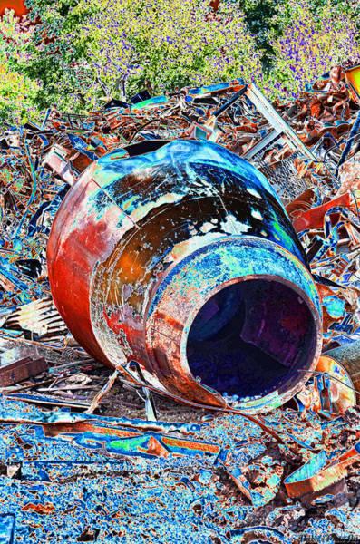 Scrap Iron Digital Art - Rusty Metal Stuff II by Debbie Portwood