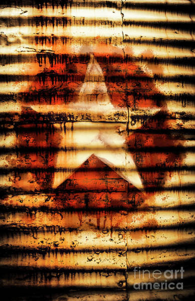 Drum Circle Wall Art - Photograph - Rusty Military Star. Drums Of War by Jorgo Photography - Wall Art Gallery
