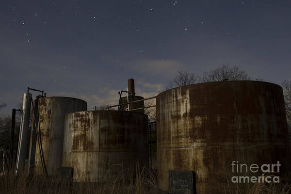 Photograph - Rusty Oil Field Tanks by Keith Kapple