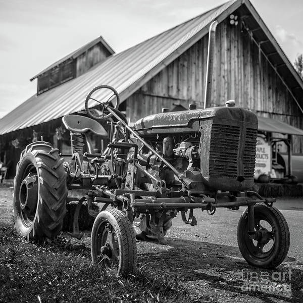 Photograph - Rusty Old Farmall Tractor Stowe Vermont by Edward Fielding