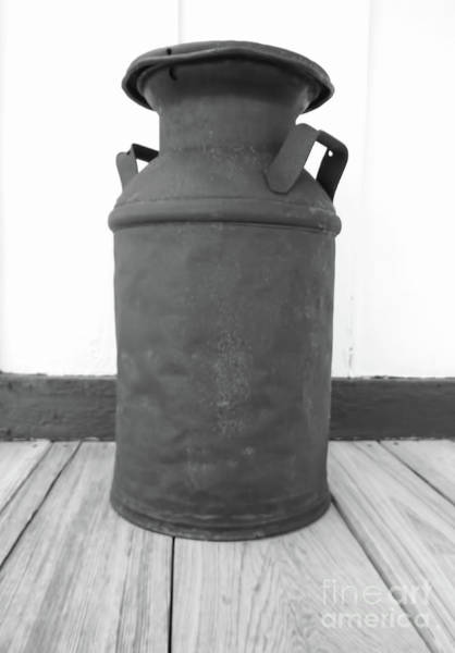 Photograph - Rusty Old Milk Can by D Hackett