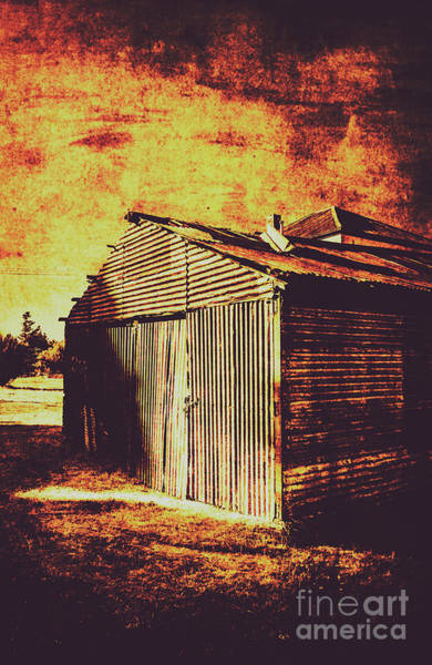 Iron Photograph - Rusty Outback Australia Shed by Jorgo Photography - Wall Art Gallery