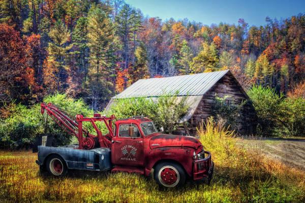 Wall Art - Photograph - Rusty Red Gmc Pickup Truck by Debra and Dave Vanderlaan