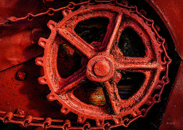 Photograph - Rusty Red Sprocket by Bob Orsillo