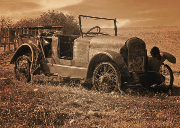 Photograph - Rusty Relic Sepia by David King