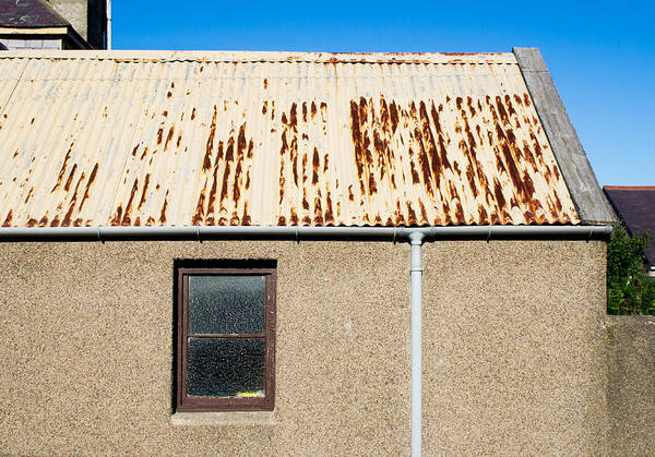 Gutter Photograph - Rusty Roof by Tom Gowanlock