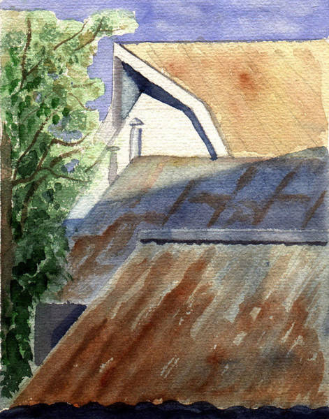 Painting - Rusty Roofs by Jane Croteau