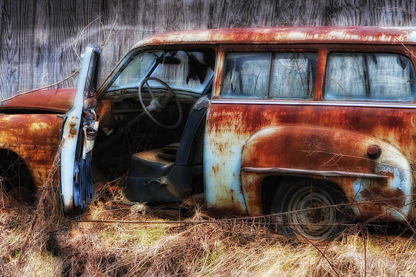 Photograph - Rusty Station Wagon by Ken Barrett