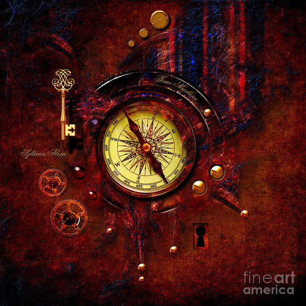 Digital Art - Rusty Time Machine by Alexa Szlavics