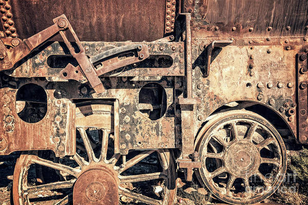 Wall Art - Photograph - Rusty Train Wheels by Delphimages Photo Creations