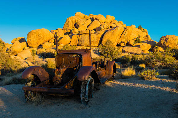 Photograph - Rusty Truck, Joshua Tree, Sunrise by TM Schultze