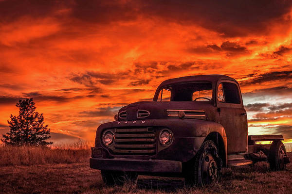 Photograph - Rusty Truck Sunset by Dawn Key