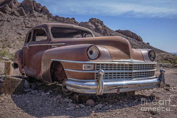 Junker Wall Art - Photograph - Rusty Vintage Chevy Car In The Desert by Edward Fielding