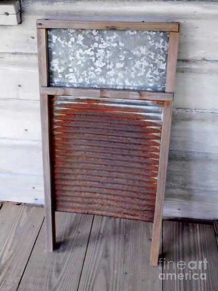 Photograph - Rusty Washboard by D Hackett