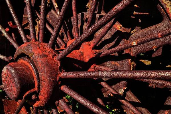 Photograph - Rusty Wheel by Michelle Calkins