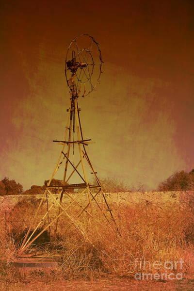 Photograph - Rusty Windmill by Elaine Teague