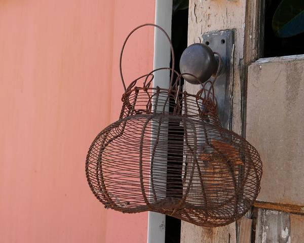 Photograph - Rusty Wire Basket by Patricia Strand