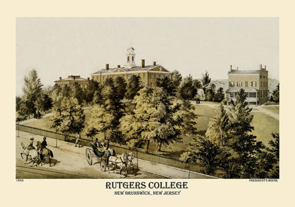 Photograph - Rutgers 1849 by Andrew Fare