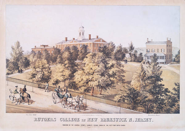 Old School Photograph - Rutgers College In New Brunswick New Jersey 1849 by Ricky Barnard