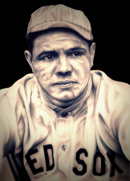 Babe Drawing - Ruth by Fred Larucci
