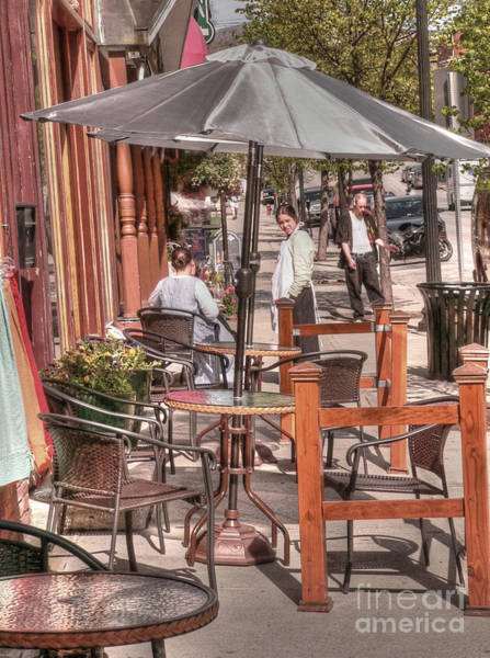 Rutland Photograph - Rutland Street Cafe by David Bearden