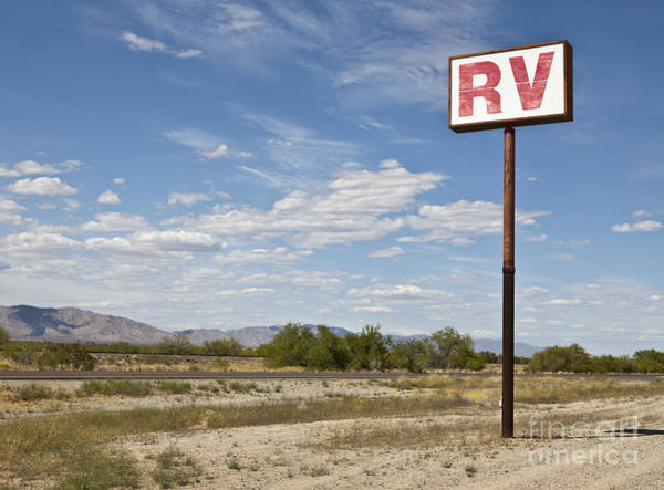 Camping Wall Art - Photograph - Rv Parking In The Desert by Paul Edmondson