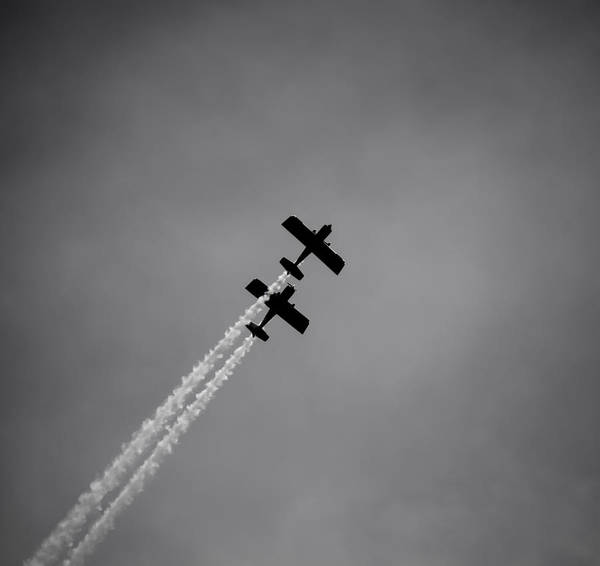 Photograph - Rv8tors Silhouette Sunderland Air Show 2014 by Scott Lyons