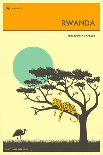 Travel Digital Art - Rwanda Travel Poster by Jazzberry Blue