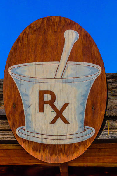 Hand Made Wall Art - Photograph - Rx Sign by Garry Gay