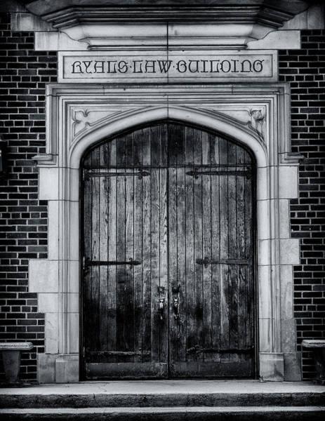 Wall Art - Photograph - Ryals Law Building Door - Mercer University by Stephen Stookey