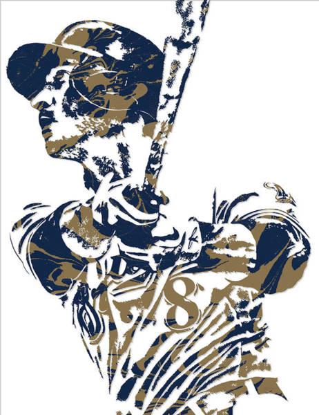 Wall Art - Mixed Media - Ryan Braun Milwaukee Brewers Pixel Art 5 by Joe Hamilton